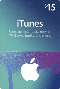 $15 iTunes Gift Card